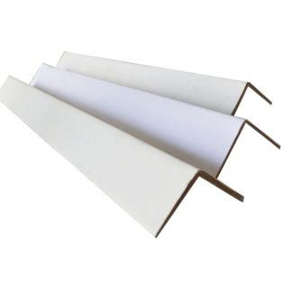 Esquinero de cartón blanco
